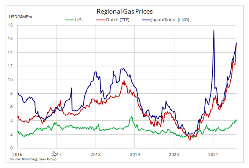 Gas prices worry our citizens / Saxo Bank