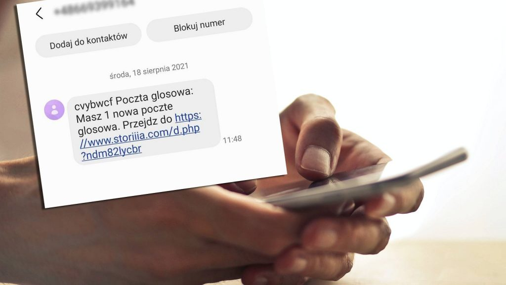 SMS containing a voicemail message is a scam.  Police warn against activating links
