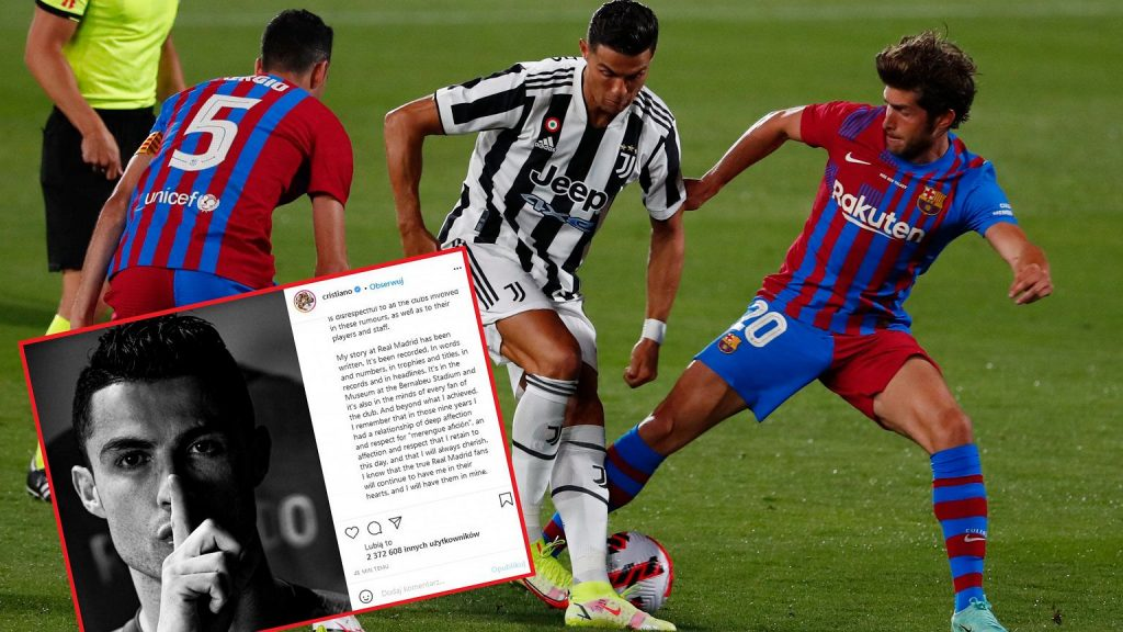 Cristiano Ronaldo made this statement.  Comment on any rumours.  football 'disrespect'