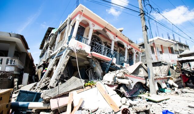 Haiti earthquake.  Several hundred dead and homes, schools and churches destroyed