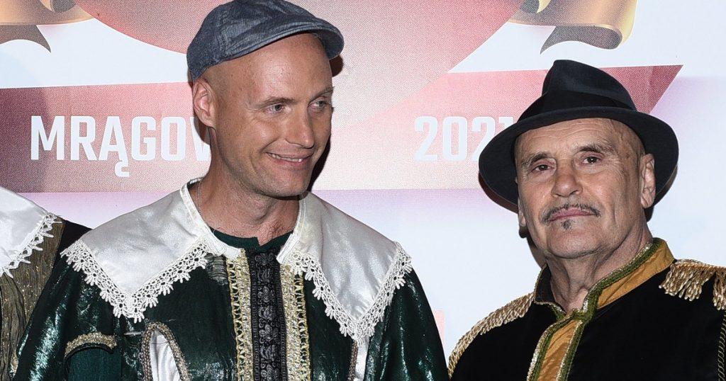"Krzysztof Krawczyk junior performed at Mrągowo.  ""Dad, I'm in good hands."""