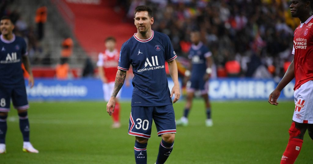 Reims - Paris Saint-Germain.  Leo Messi appeared for the first time in Paris Saint-Germain!  French League 1