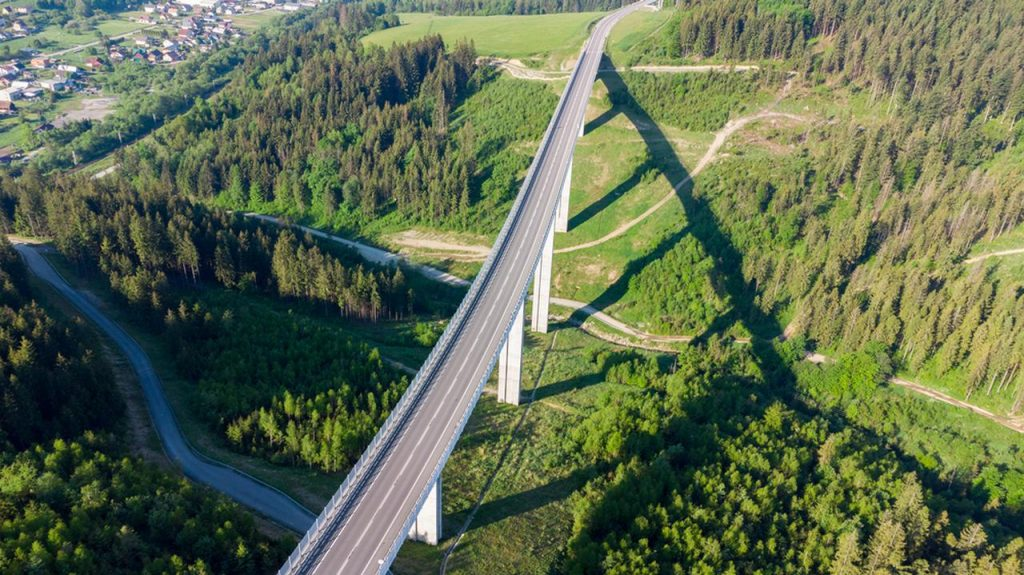 Slovakia.  The D3 motorway to Poland was closed earlier due to a contract with a film crew