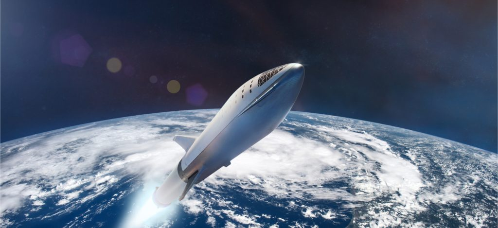 The Starship will be ready to fly into orbit in a few weeks.  It's a pity it won't fly