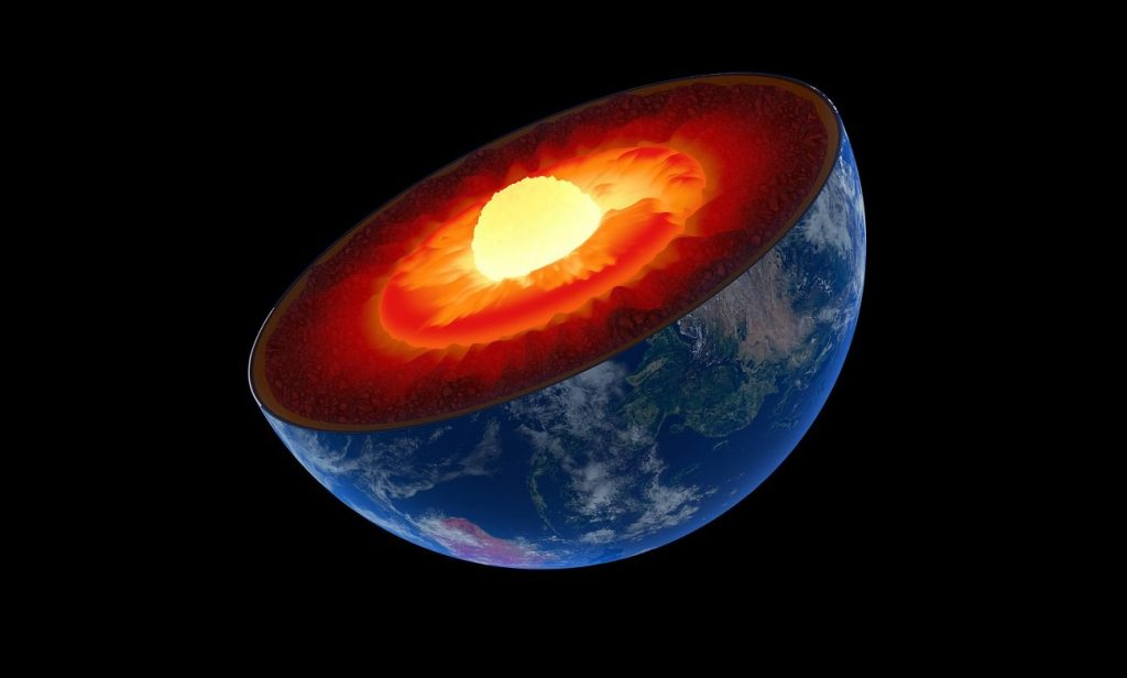 The core of the earth grows asymmetrically.  Scientists have a possible solution to the mystery