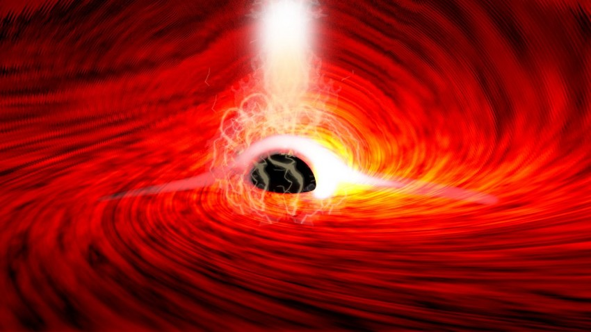 The first light from outside a black hole