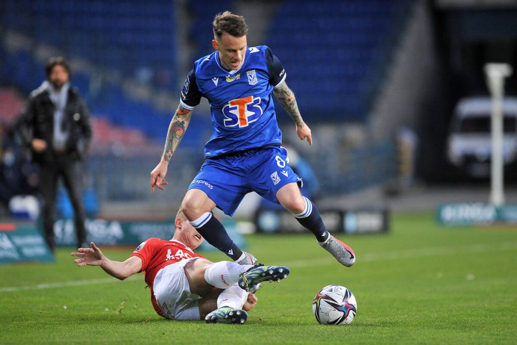 Two players at the exit from Lech Poznan.  A new striker will come in their place