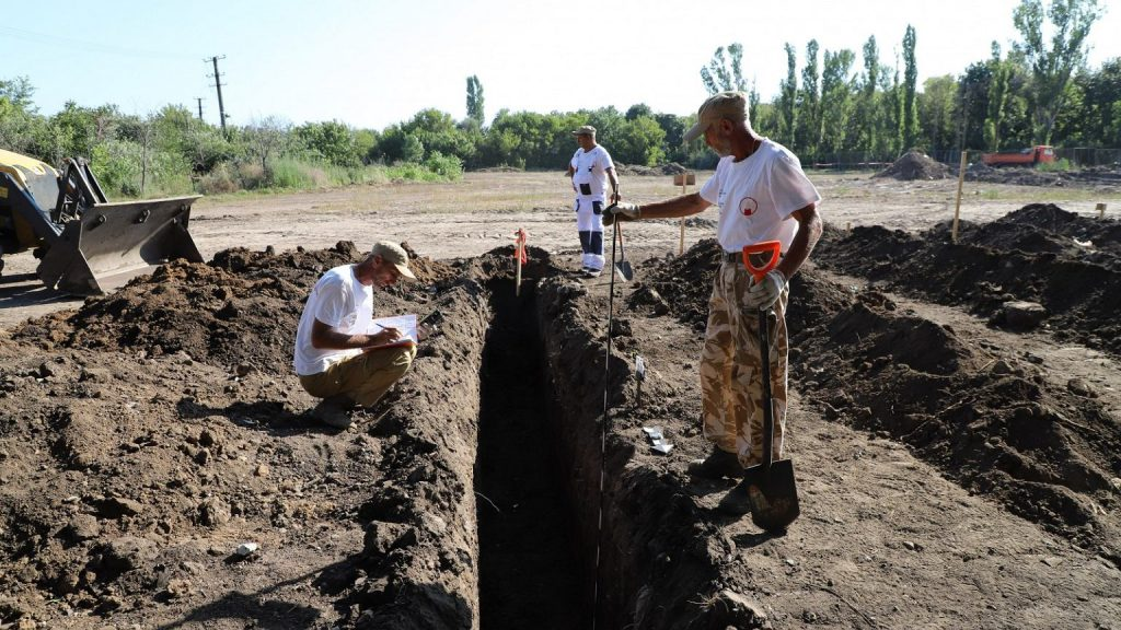Ukraine.  Mass graves of NKVD victims were discovered.  'Body in 3-5 layers' |  world News
