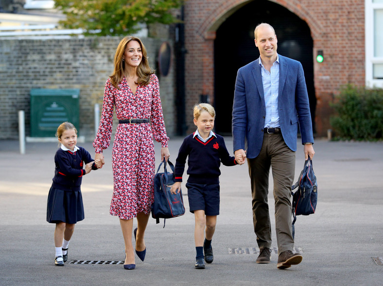 Kate Middleton and Prince William with Charlotte and George