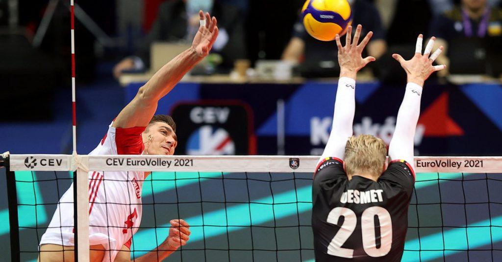 Poland - Belgium.  ukasz Kaczmarek has dismantled his rivals.  ME . volleyball players