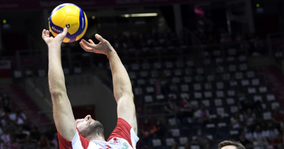 Volleyball players in ME.  Poland - Belgium.  Grzegorz Łomacz and ukasz Kaczmarek are the heroes of the meeting