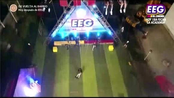 Elias Montalvo suffers a spectacular fall in the high-altitude game at Estas S. Guerrero