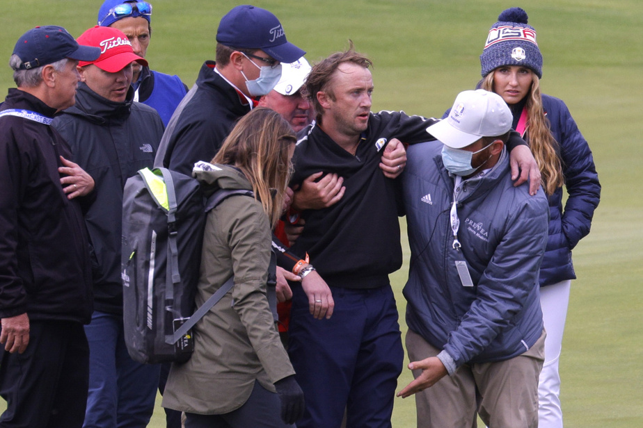 Rider Cup Celebrity Match    Actor Tom Feldon walks out of the golf course