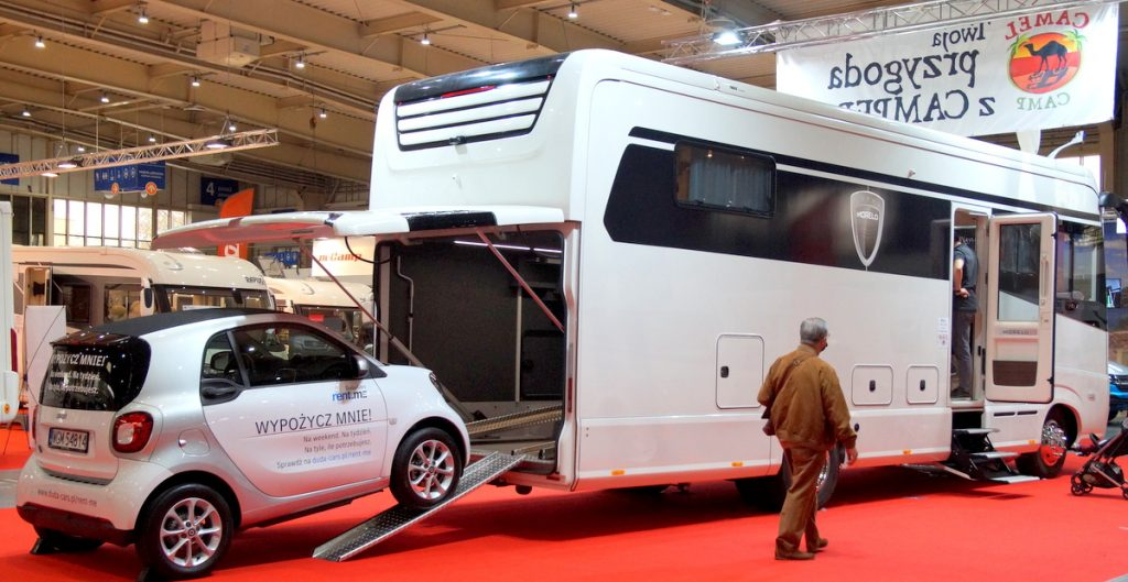 """Tourist weekend at the Poznan Fair.  """"There will be approximately 250 motorhomes and caravans."""""""