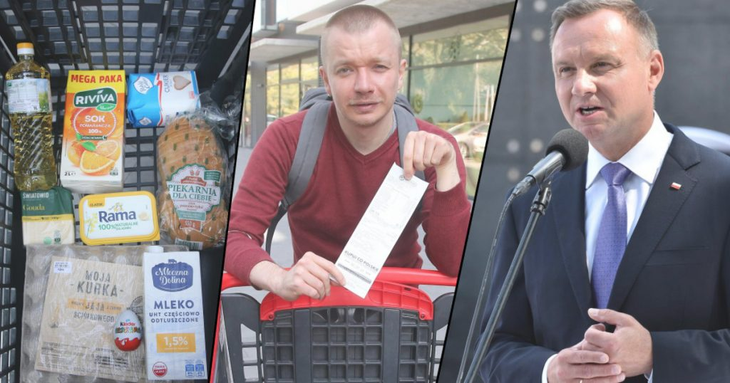 Bagpipe basket price comparison.  Poland's highest inflation rate in 20 years