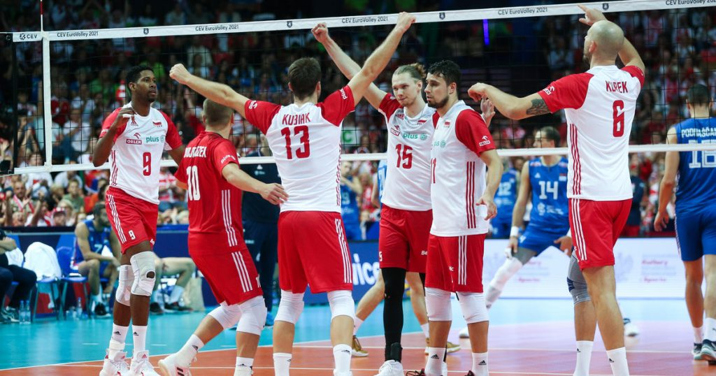 European Volleyball Championships.  The Poles stole the show at the medal ceremony