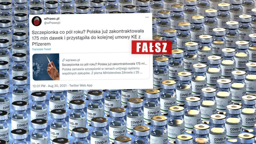 """""""Poland has contracted 175 million doses"""" of COVID-19 vaccine?  Netizens say so, but it was considered a mistake"""