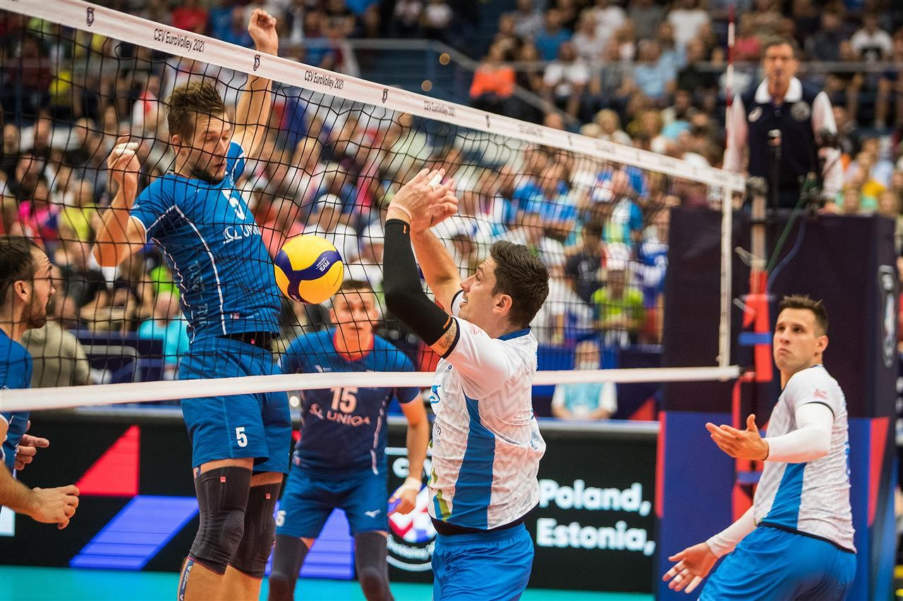 European Volleyball Championship.  In the quarter-finals, the Poles defeated Russia with beautiful style at the Ergo Arena.  Jacob Kochanowski