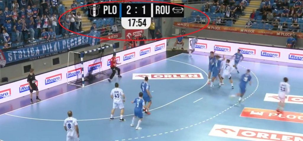 Strange situation in the Orlen Wis³a P³ock match.  After 18 minutes it was possible to look and not believe
