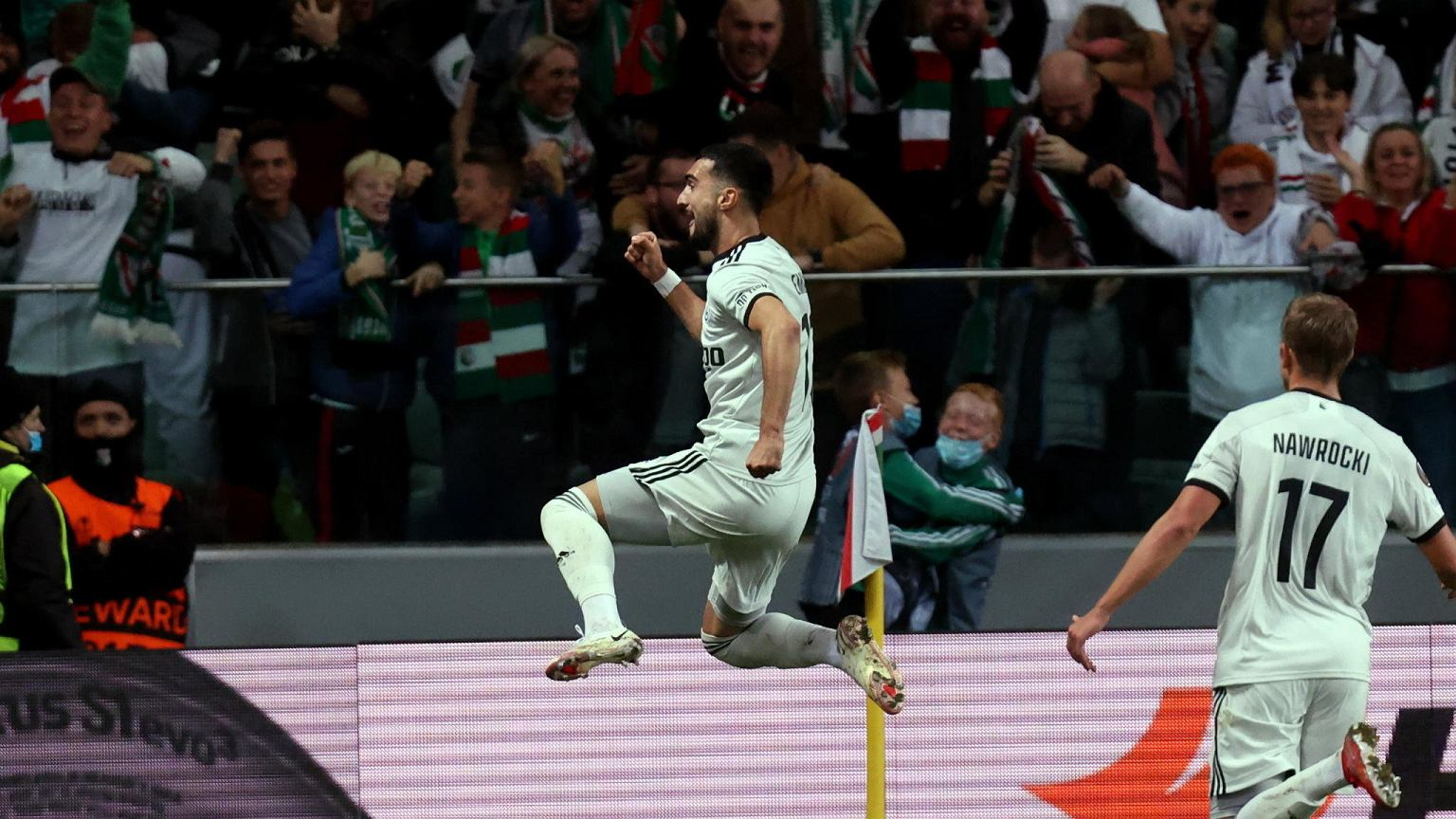 feeling!  Legia Warsaw beat Leicester City after a horror match at the end!
