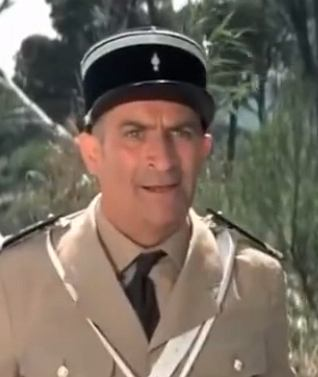 Louis de Funes as a gendarme