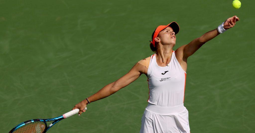 Indian Wells WTA.  Magda Lynette is eliminated with Victoria Azarenka