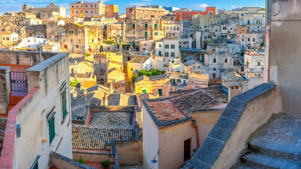 Matera Italy.  Where the new Bond movie No Time to Die was filmed
